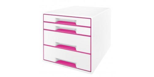 Wow Desk cube 4 laden wit/roze