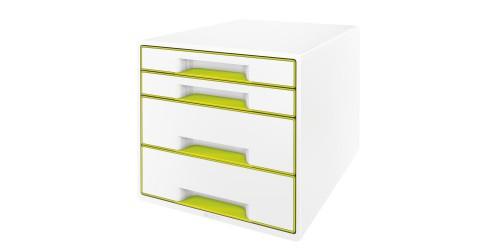 Wow Desk cube 4 laden wit/groen