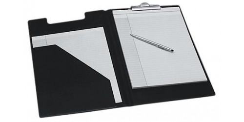 Schrijfplaat met omslag en tas