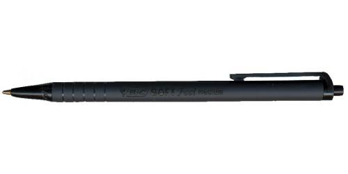 Balpen Bic SoftFeel zwart medium
