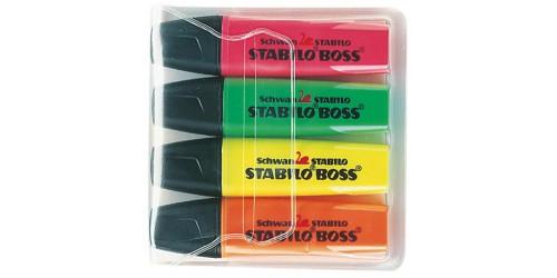 Etui 4 kleuren Stabilo Boss
