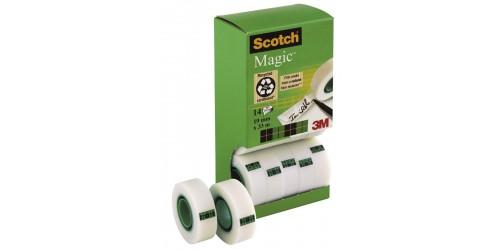 Pack Scotch Magic 19x33mm 12 + 2 gratis