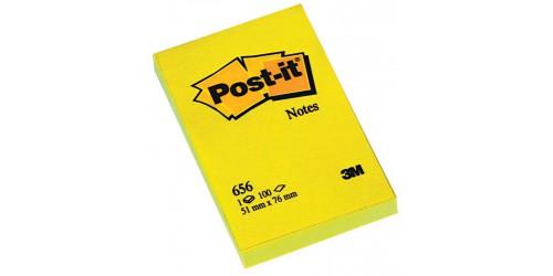 Post-it note 656, geel 76x51 mm