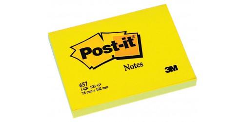 Post-it note 657, geel 76x102 mm