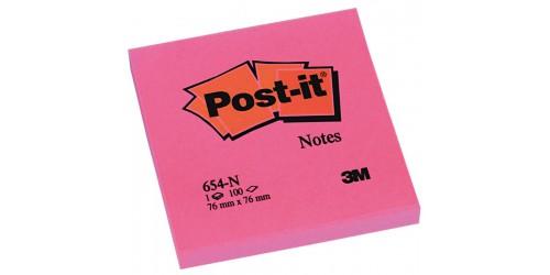 Post-it Neon 76x76 mm roze (654-N)