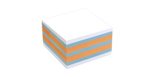 Info notes 75x75mm oranje/blauw
