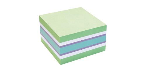 Info Notes 75x75mm groen/blauw