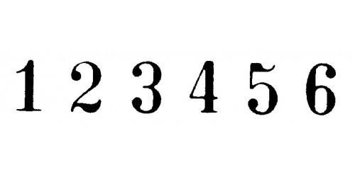 Numeroteur 4,5 mm (20600)