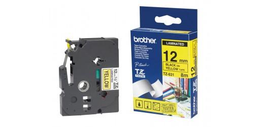 Brother tape TZe631 12mm zwart/gee