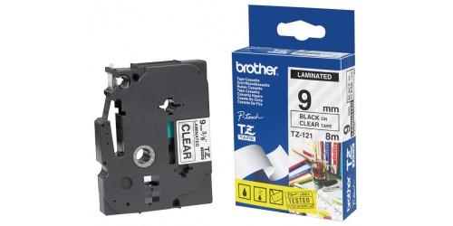Brohter tape TZe121 9mm zwart/held
