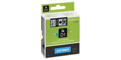 Dymo tape 24mmx7m,zw-transp(53710)