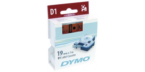 Tape Dymo zwart/rood 19mm - 45807
