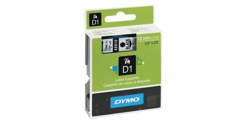 Tape Dymo zwart/transp.12 mm-45010