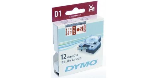 Tape Dymo rood/transp. 12 mm-45012