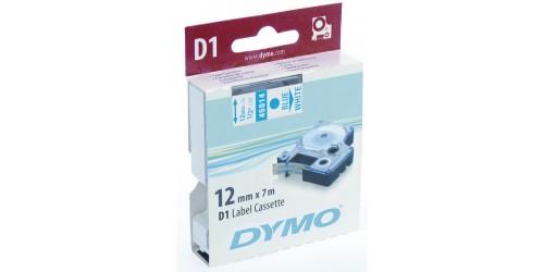 Tape Dymo blauw/wit 12 mm-45014