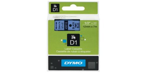 Tape Dymo zwart/blauw 12 mm-45016