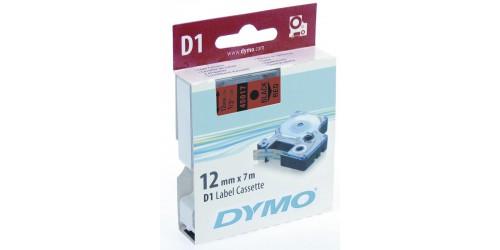 Tape Dymo zwart/rood 12 mm-45017