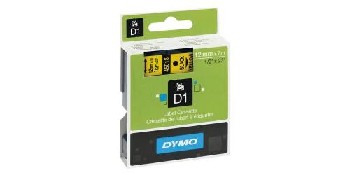 Tape Dymo zwart/geel 12 mm-45018