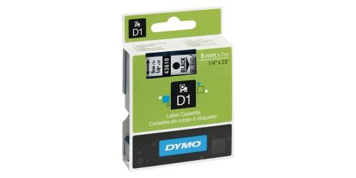 Tape Dymo zw/transpar. 6 mm-43610