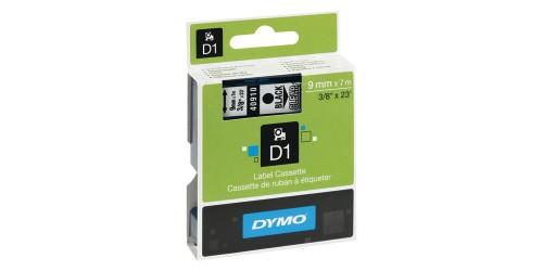 Tape Dymo zw/transpar. 9 mm-40910