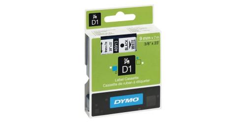Tape Dymo zwart/wit 9 mm-40913