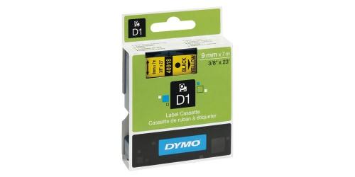 Tape Dymo zwart/geel 9 mm-40918