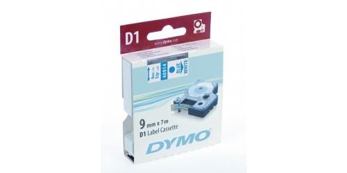 Tape Dymo blauw/wit 9 mm-40914