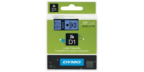 Tape Dymo zwart/blauw 9 mm-40916