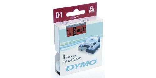 Tape Dymo zwart/rood 9 mm-40917