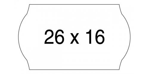 Rol TBM etiket perm. 16x26 mm