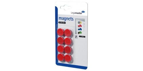 Magneet diam. 20 mm rood
