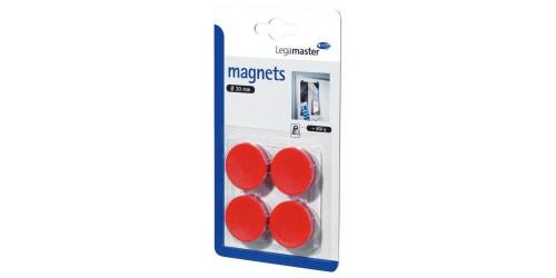 Magneet diam. 30 mm rood