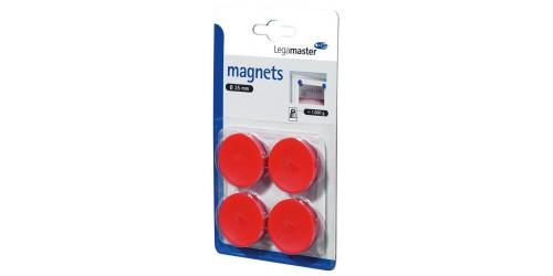 Magneet diam. 35 mm rood