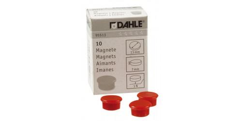 Magneet Dahle diam. 13 mm rood
