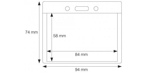 Hoes voor identificatie 58 x 84 mm