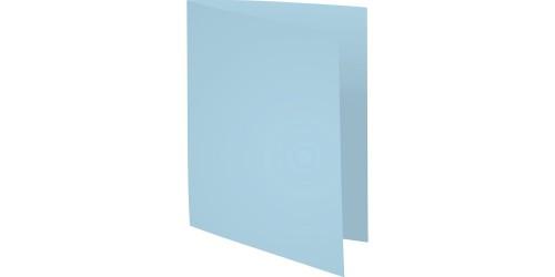 Vouwmap A4 170 gr met zichtrand blauw
