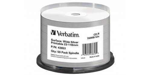 VERBATIM CDR80 700MB 52x (50) CB SILVER