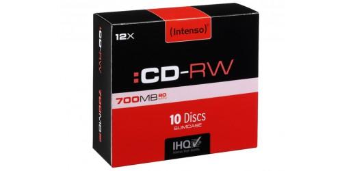INTENSO CDRW80 700MB 12x (10) SC