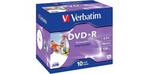 VERBATIM DVD+R 4.7GB 16x (10) JC