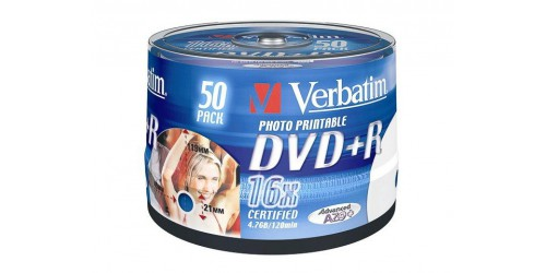 VERBATIM DVD+R 4.7GB 16x (50) SP