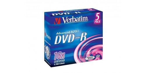 VERBATIM DVD-R 4.7GB 16x (5) JC