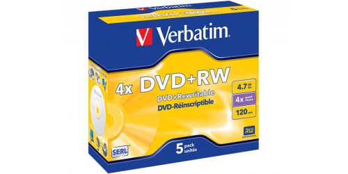 VERBATIM DVD+RW 4.7GB 4x(5) JC