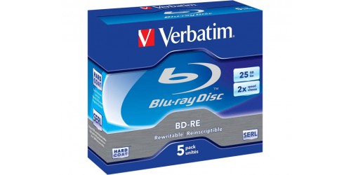 VERBATIM BD-RE 25GB RW 2x (5) JC