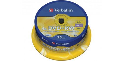 VERBATIM DVD+RW 4.7GB 4x (25) SP