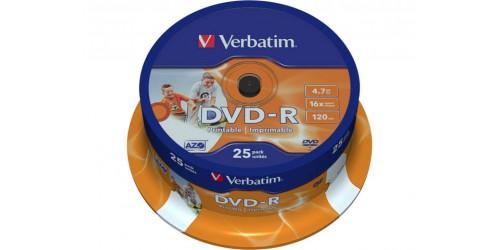 VERBATIM DVD-R 4.7GB 16x (25) SP