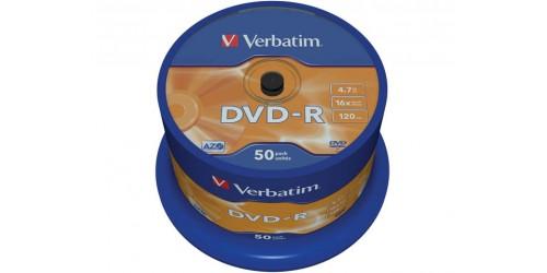 VERBATIM DVD-R 4.7GB 16x (50) SP