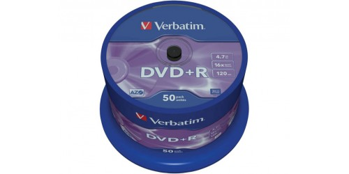 VERBATIM DVD+R 4.7GB 16x (50) SP