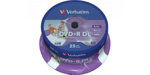 VERBATIM DVD+R 8.5GB 8x (25) SP