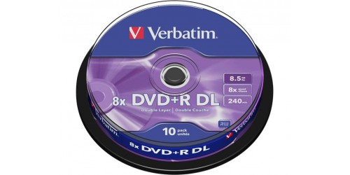 VERBATIM DVD+R 8.5GB 8x (10) SP