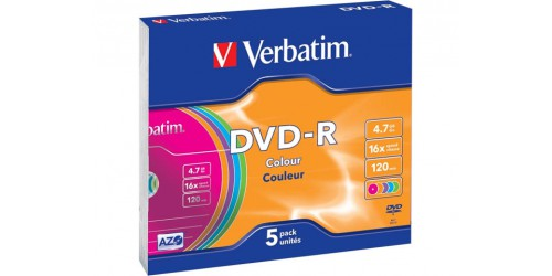 VERBATIM DVD-R 4.7GB 16x (5) JC